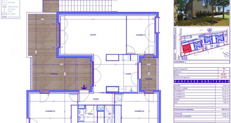 Vente T4 90 m² à Sainte-Foy-Lès-Lyon 540 000 € - Sainte-Foy-Lès-Lyon (69110) - 1