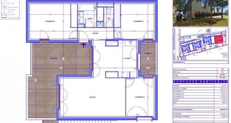 Vente T4 90 m² à Sainte-Foy-Lès-Lyon 535 000 € - Sainte-Foy-Lès-Lyon (69110) - 1