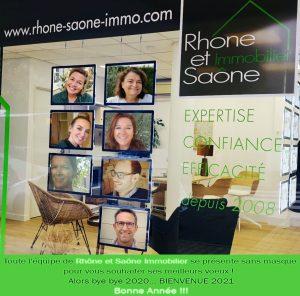 Bonne année 2021 avec Rhône et Saône Immobilier
